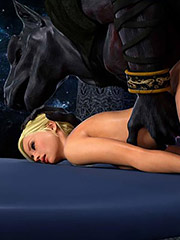 To feel his thick member moving deep inside her - Knight Elayne, Forbidden Areas, Bad Ending by 3D Collection