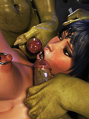 Tight girl takes every inch of huge cocks - Dungeon origins 2 by X3Z