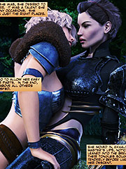Discharged hot fluid - World Never Quest The huntress episode 1 by crazy xxx 3D